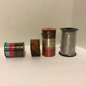 Set of 4 Various Spools of Gift Wrap Ribbon